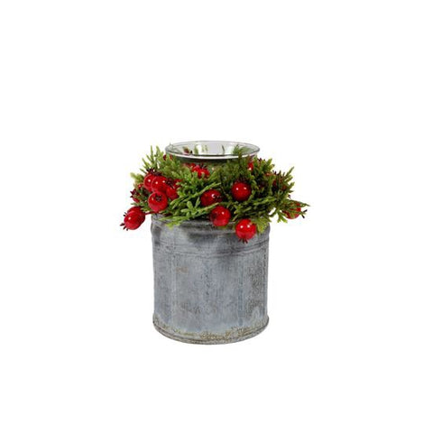 Red Berry Tea Light Holder