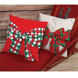 Plaid Bow Pillow Wrap