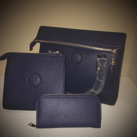 TB 3pc Genuine Leather Purse Set (Insp)