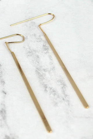 Chain and Bar Earrings