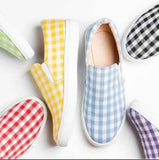 Penny Plaid Slip-On Shoes