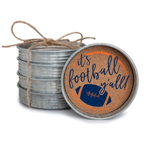 Farmhouse Gameday Coaster Set (4 coasters)