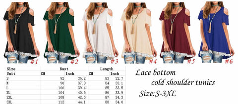 Cold Shoulder Lace Bottom Top