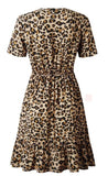 Celeste V-Neck Leopard Dress