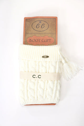 C.C. Beanie Boot Cuff with Tassel