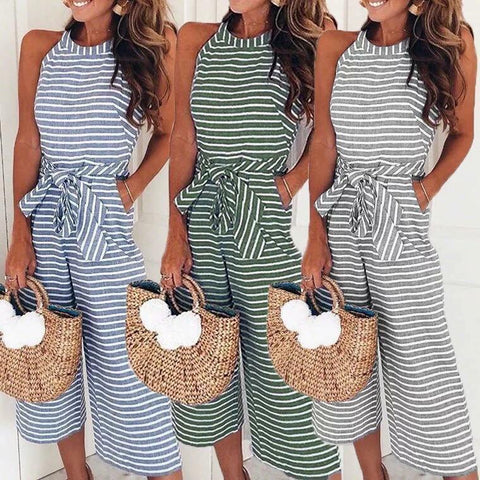 Striped Bow Romper
