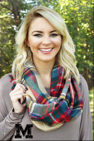 Plaid Infinity Scarf*
