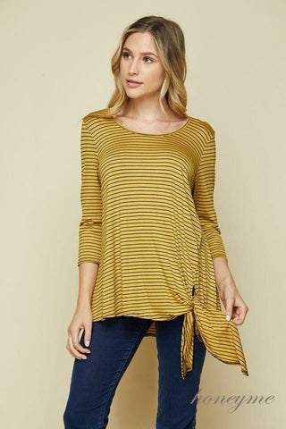 Honeyme Mustard/Black Knot Shirt