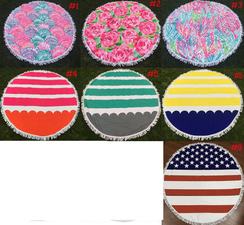 Thick Round Beach Towels
