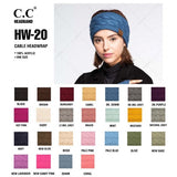 C.C. Solid Cable Knit Headwrap