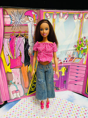 Brown hair Jeans single Barbie