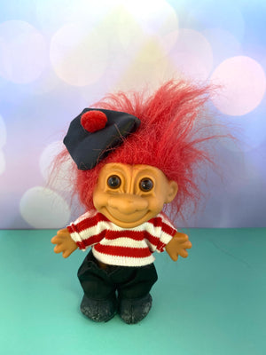 Red Hair  Beret Troll