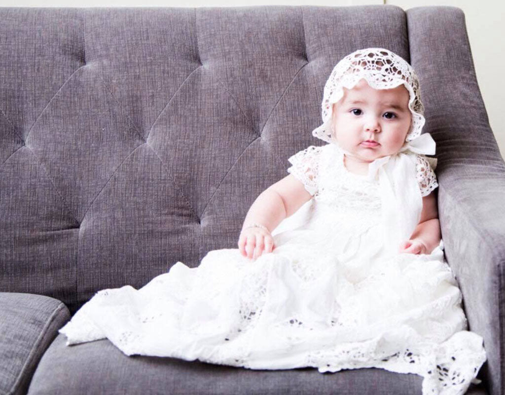 Edenelle's Sweet Blessing Day | Grace Christening Gown & Bonnet