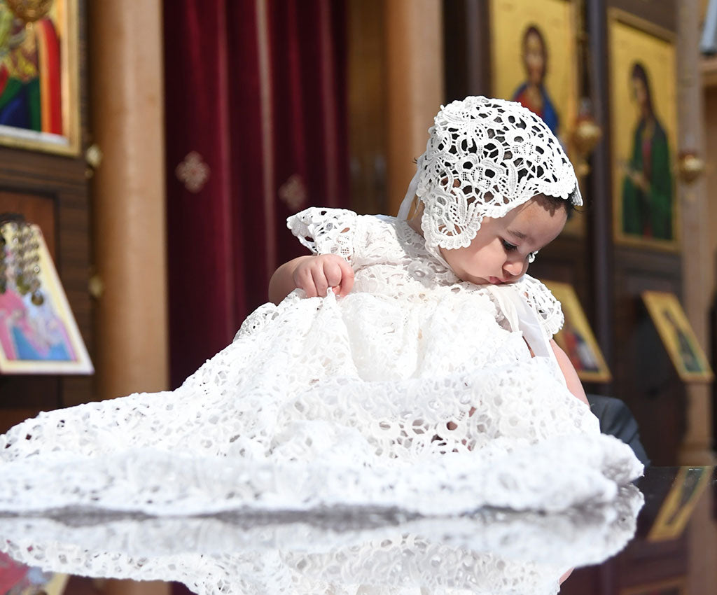 A Baptism in Lebanon | Zoya's Special Day in the Lola Christening Gown & Bonnet
