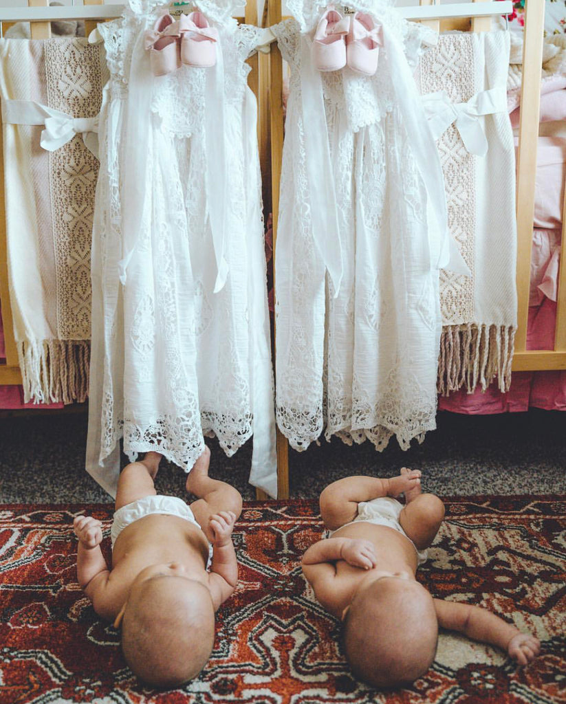 A Twin Blessing | Grace White Blessing Gown