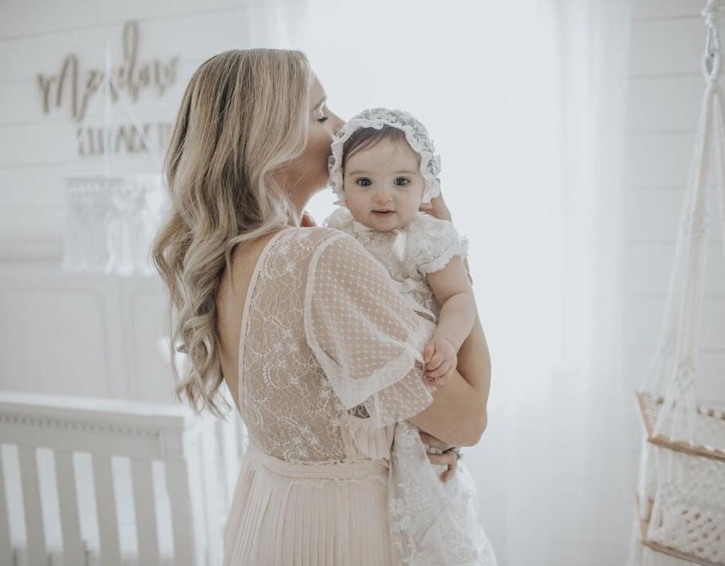 Meadow's Baptism Day | Penelope Christening Gown