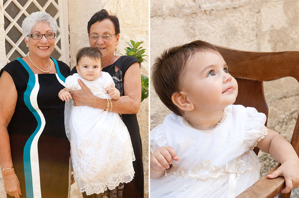 Aria's Christening in Barbados | Gwen Christening Gown