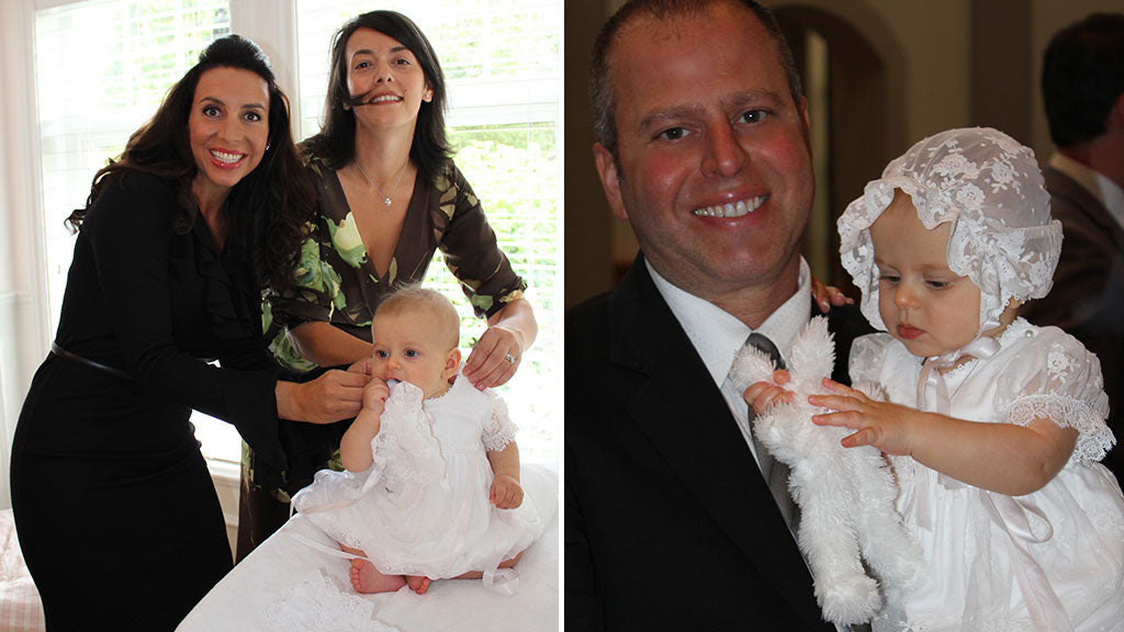 Chiara's Baptism Day | Getting Dressed in the Melissa Christening Gown & Bonnet
