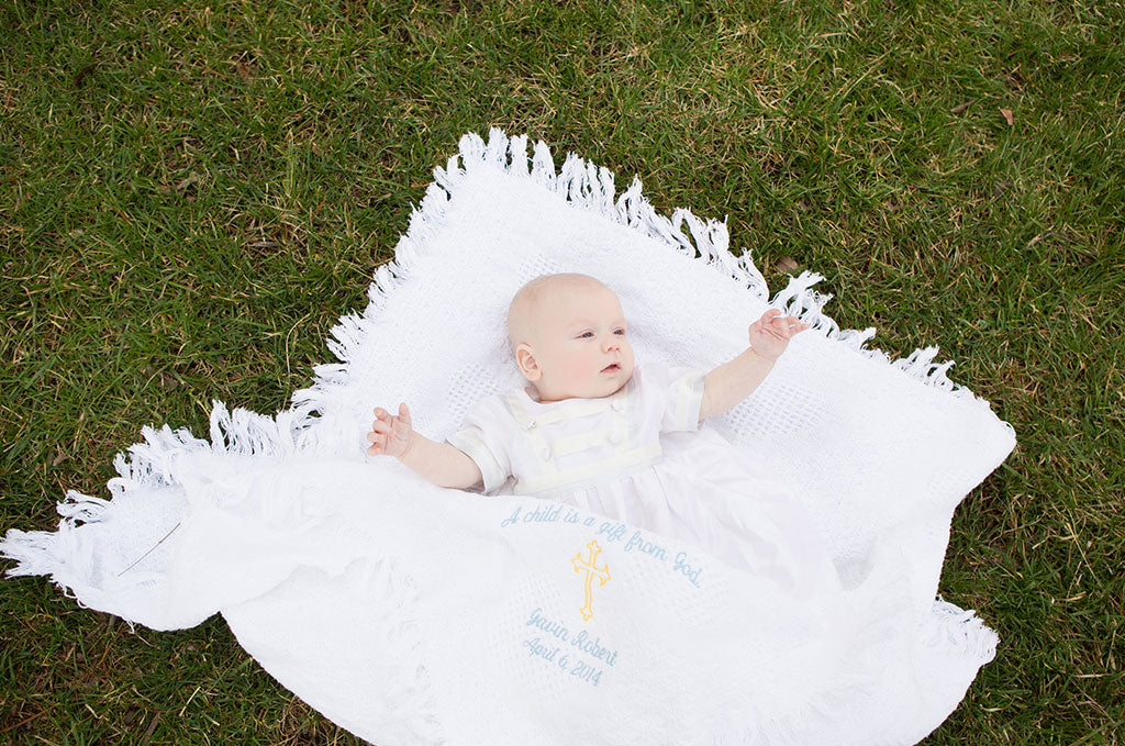 Gavin's Christening Story | Cameron Silk Christening Gown