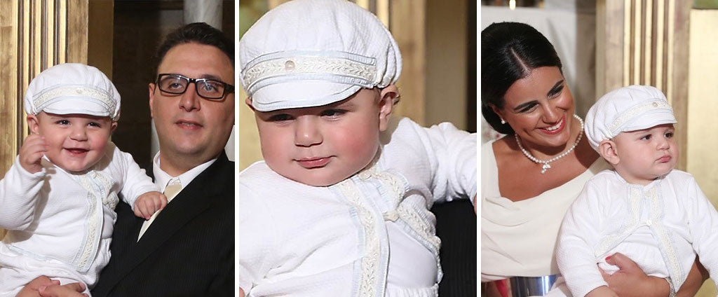 Joe-Ziad's Christening wearing Harrison Boys Christening Suit