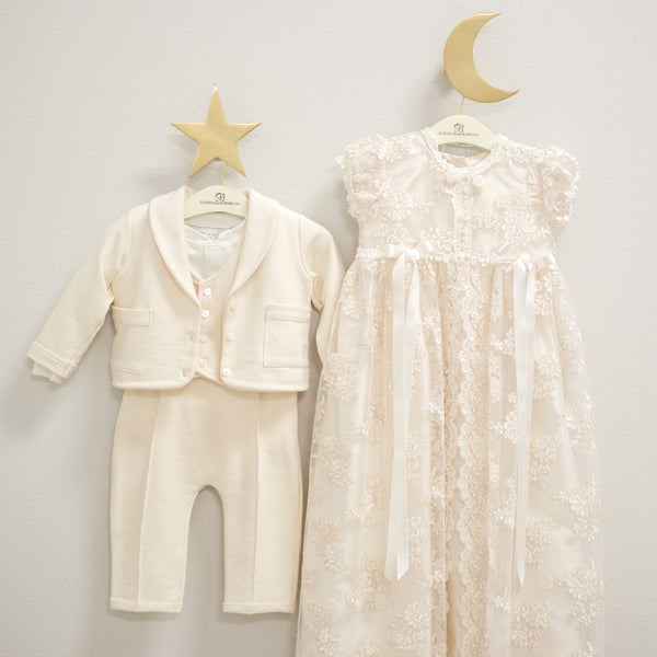 baby boy suit christening gown