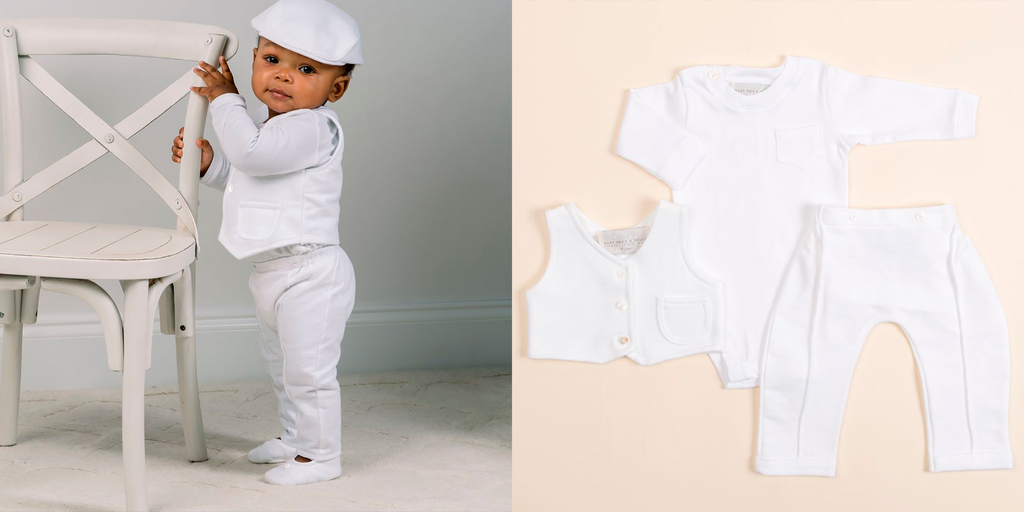 modern boy christening suit