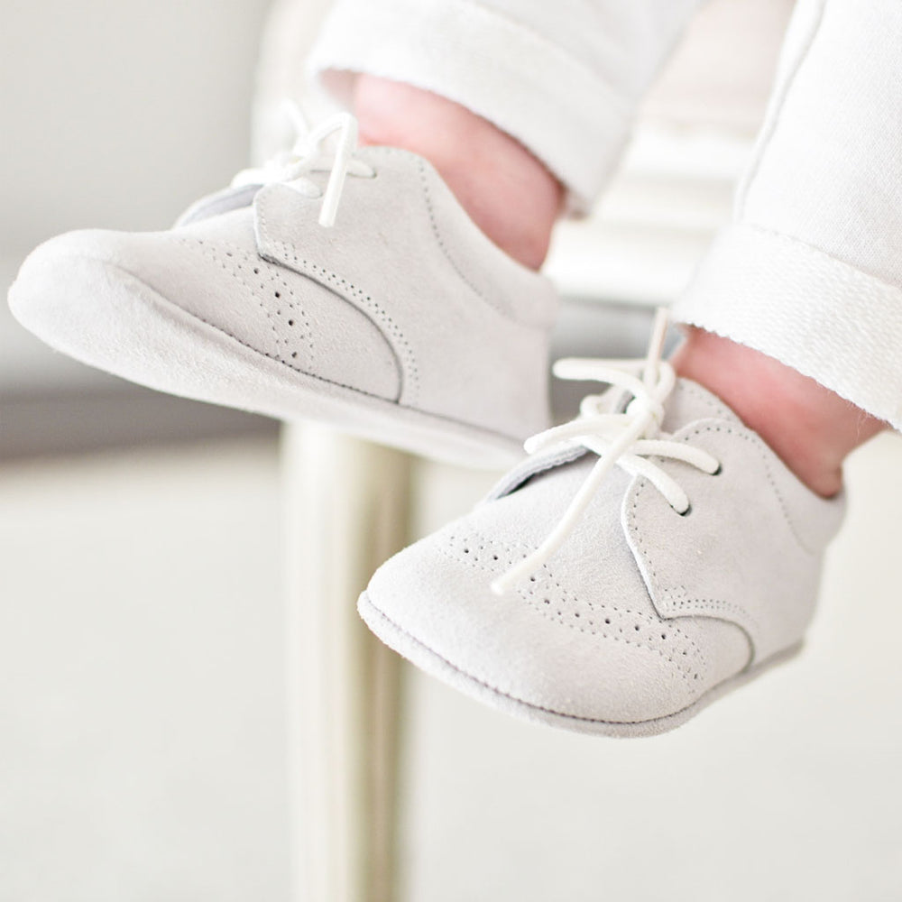 Dove Grey Suede Shoes