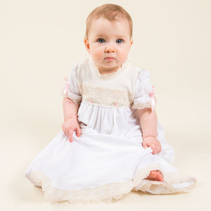 Chloe Layette Gown, Headband & Booties