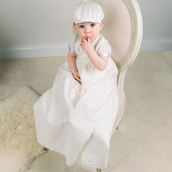 Owen Boys Christening Gown | Romper & Skirt Set