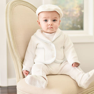 Harrison Christening Suit | Quilted Cotton
