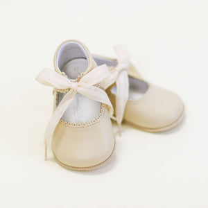 Tan Tie Mary Janes