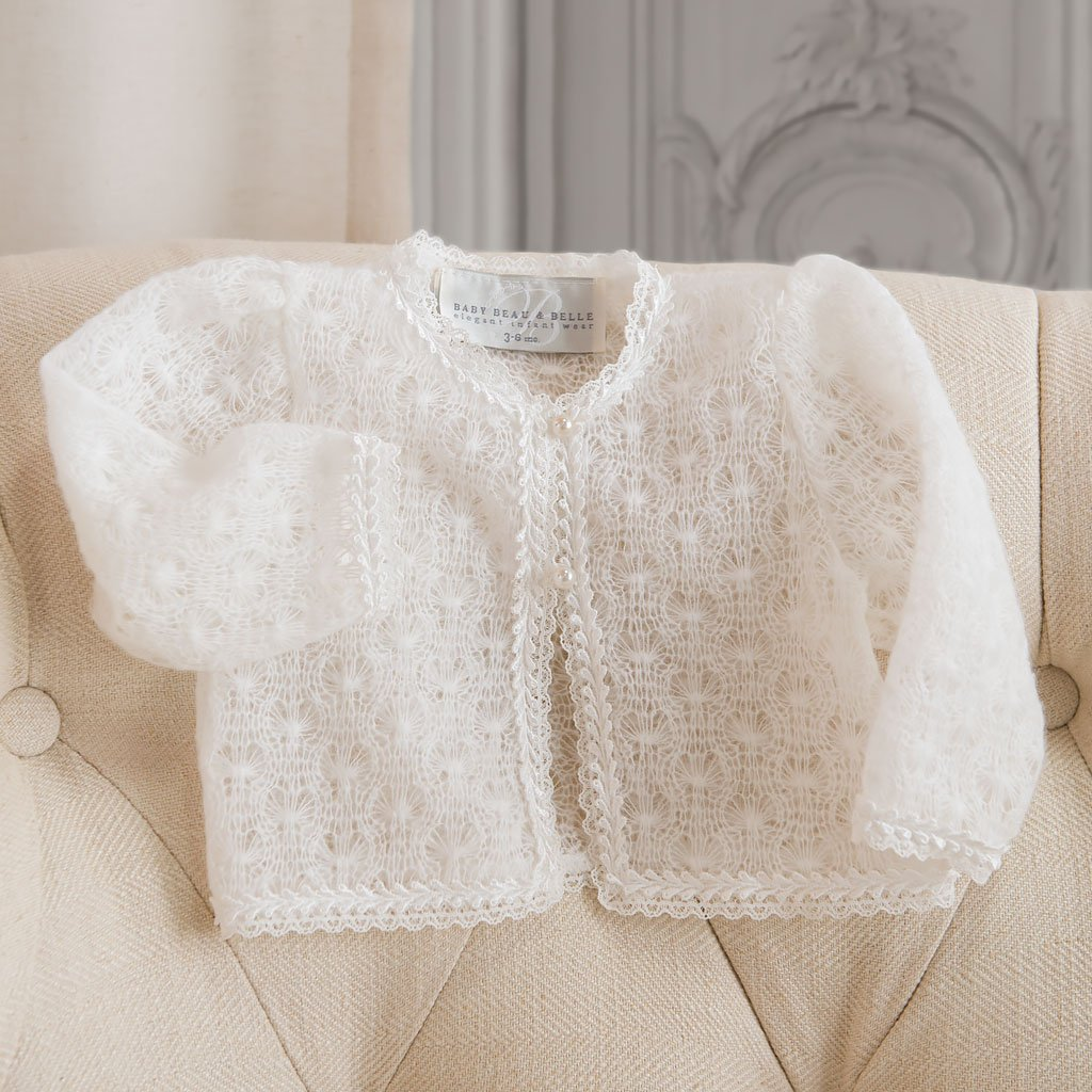 Caroline Knit Sweater - Girls Christening Sweater