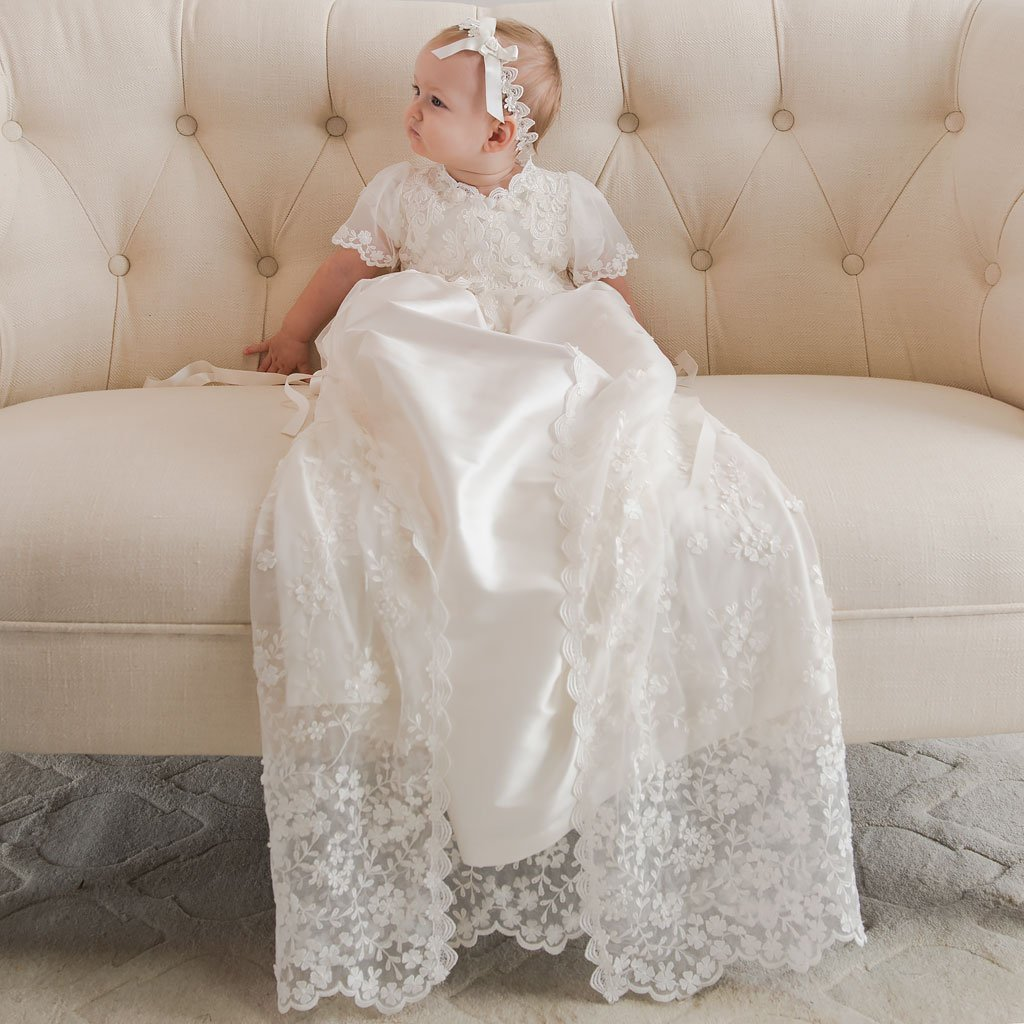Baby Girl Lace Headband | Christening & Baptism Collection ...
