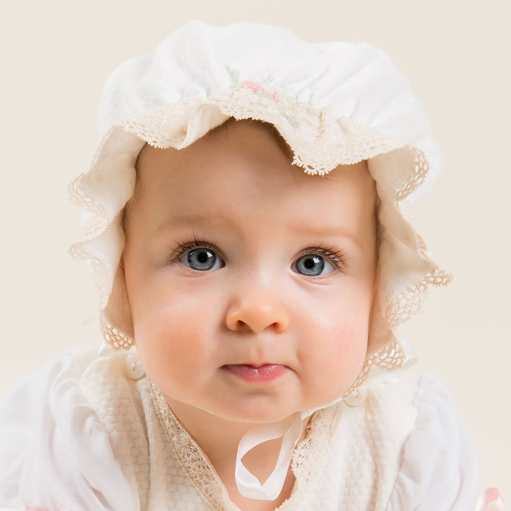 Chloe Cotton Bonnet - Girls Bonnet