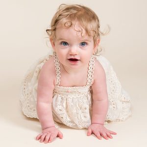 Clementine Christening Dress & Bloomers - Girls Christening Dress