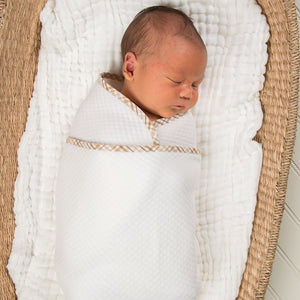 Dylan Cotton Newborn Gown Set - Boys Layette Gown