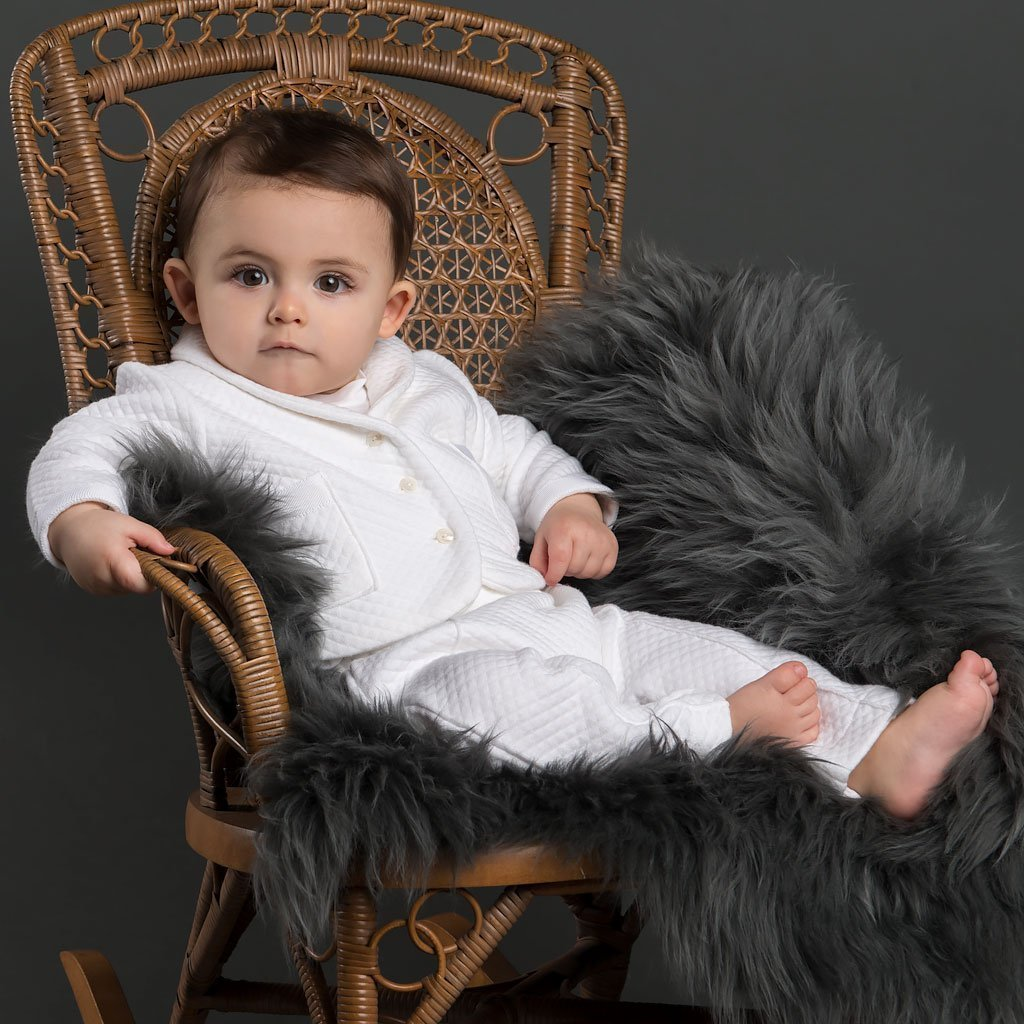 Elijah 3-Piece Set - Boys Christening Suit