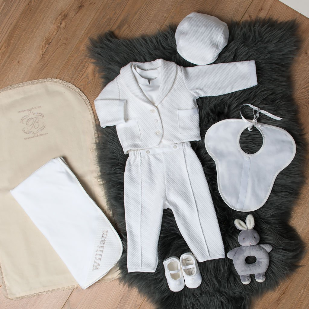 Elijah Christening Suit Set - SAVE 10% - Boys Christening Suit Set