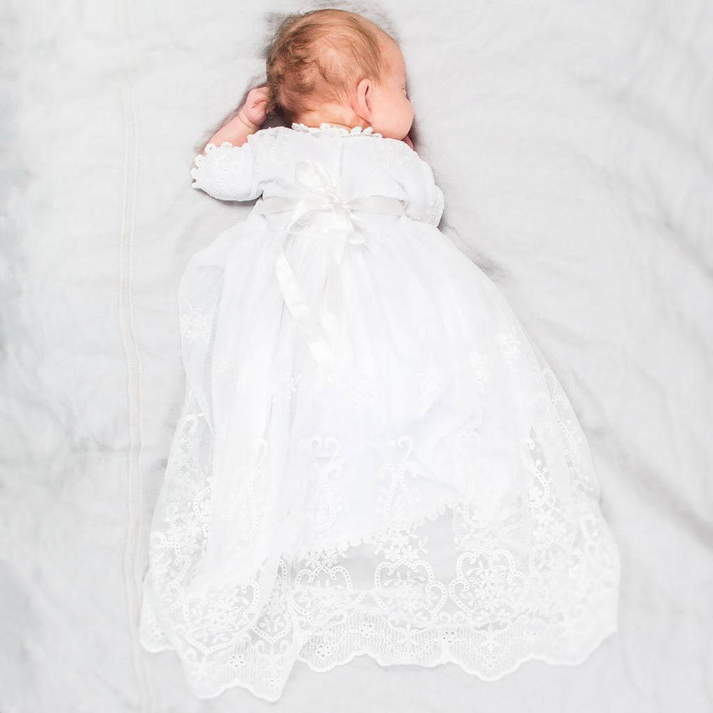 Eliza Newborn Blessing Gown -