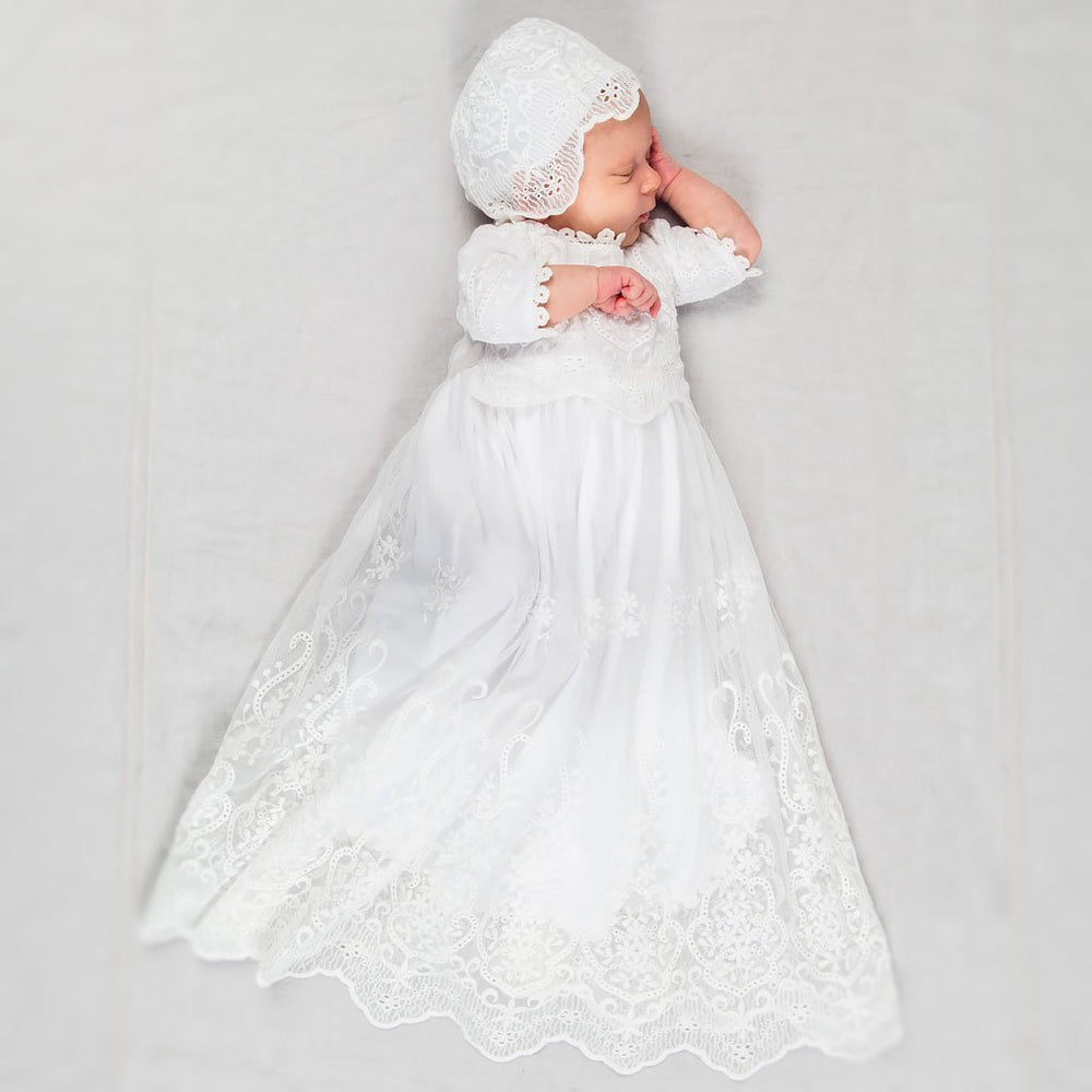 Eliza Newborn Blessing Gown & Bonnet