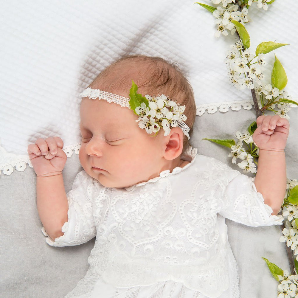Eliza Newborn Lace Headband -