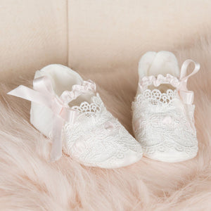 Emma Christening Booties - Girls Booties