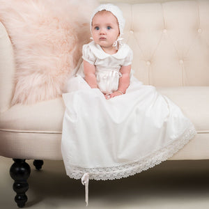 Emma Girls Christening Collection Romper Set - SAVE 10% - Girls Christening Gown Set