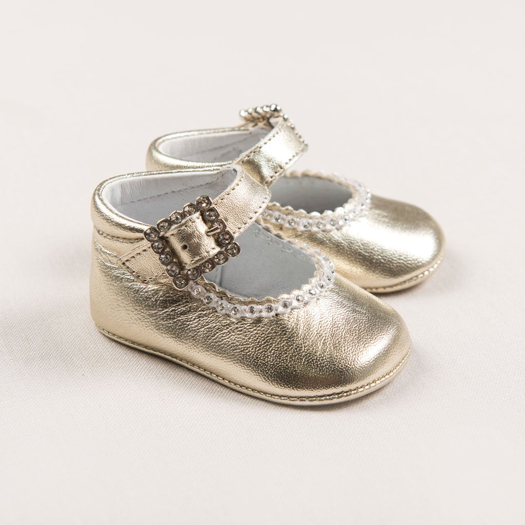 Gold Mary Janes - Girls Shoes