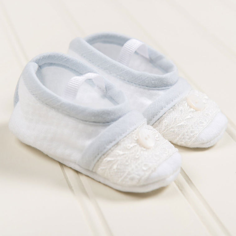 Harrison Christening Booties - Boys Booties