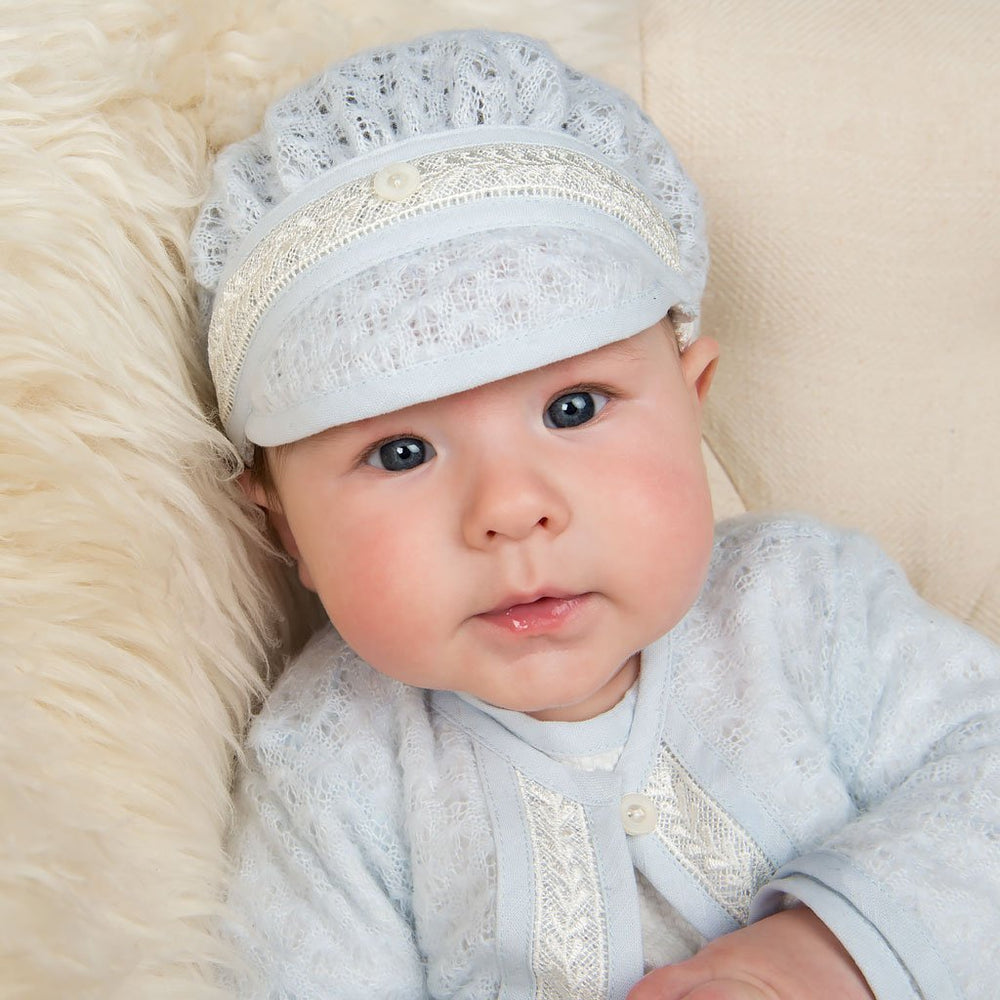 Harrison Knit Christening Hat - Boys Hat