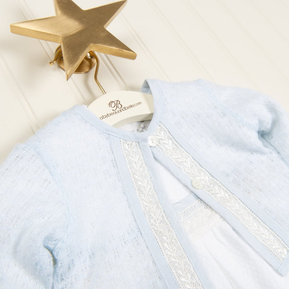 Harrison Knit Christening Sweater - Boys Sweater