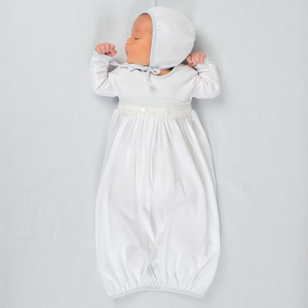 Harrison Newborn Gown & Bonnet