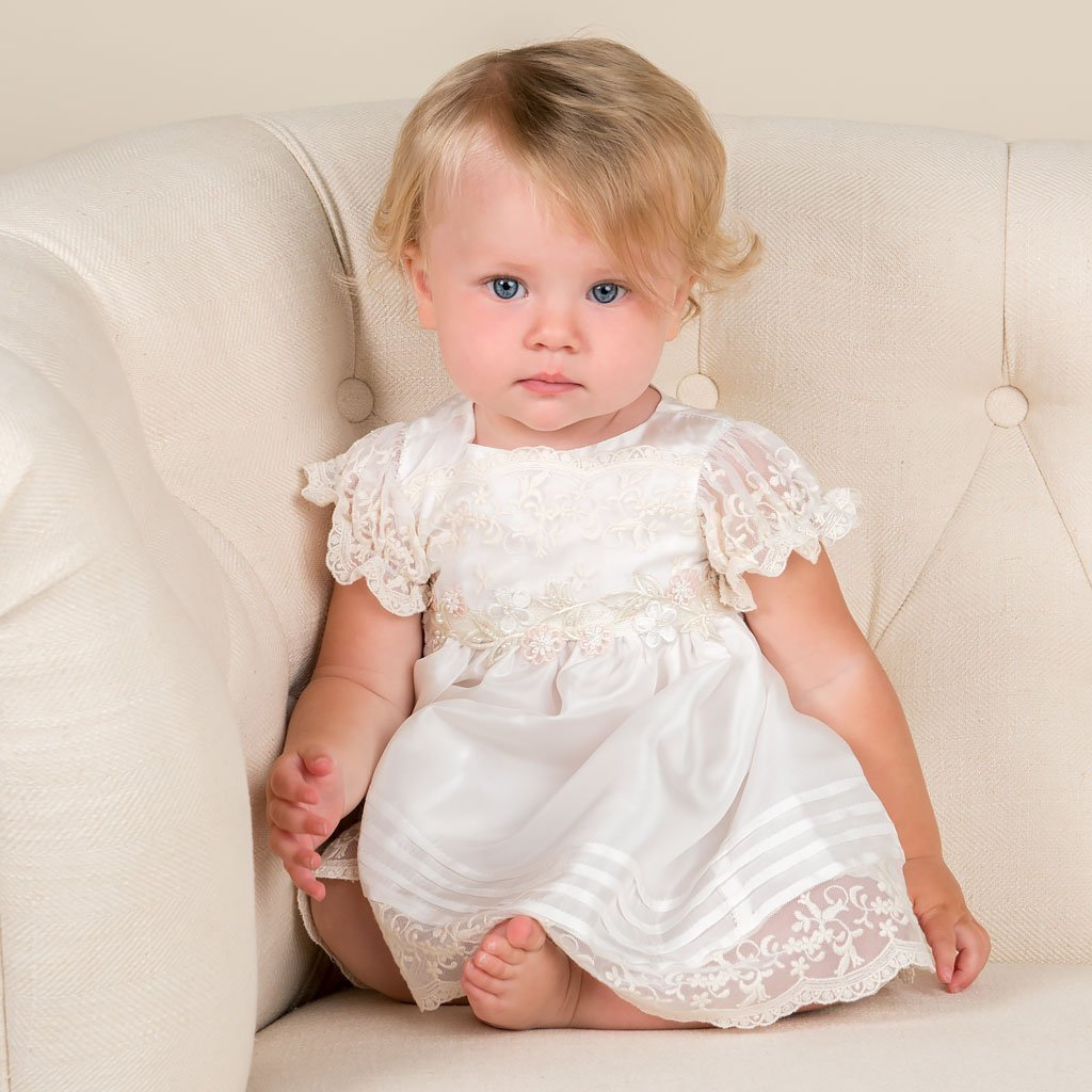 Jessica Silk Christening Dress & Bloomers -