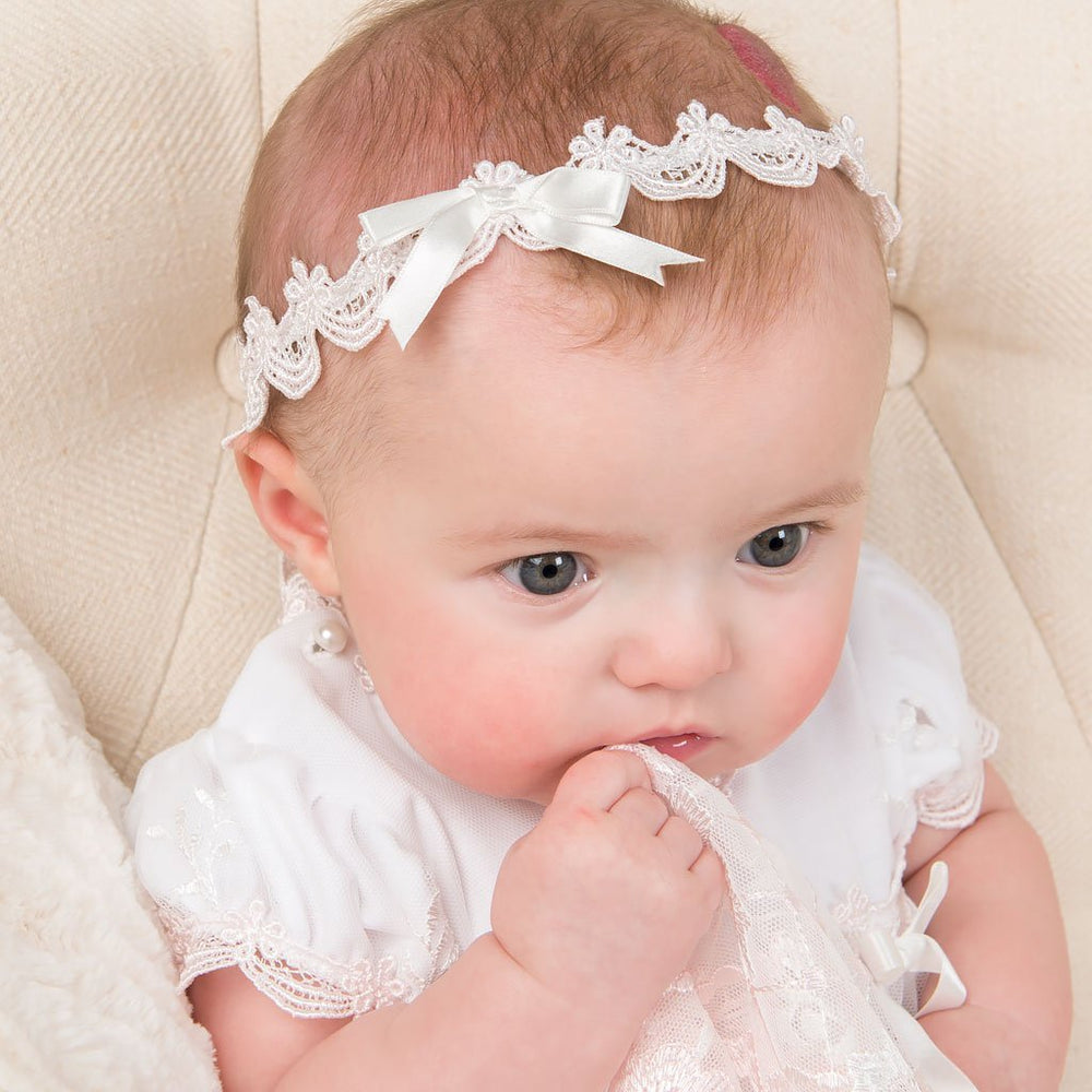 Joli Christening Headband - Girls Headband